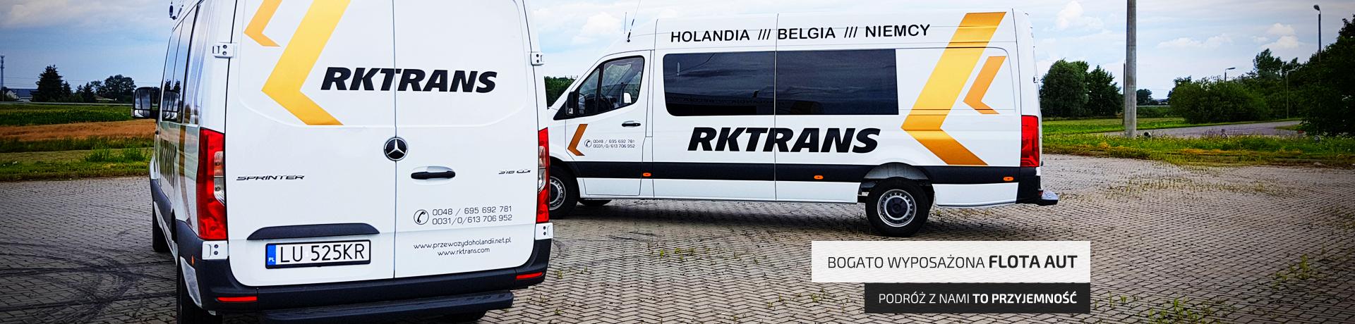 przewozy do holandii - bogato wyposażona flota aut